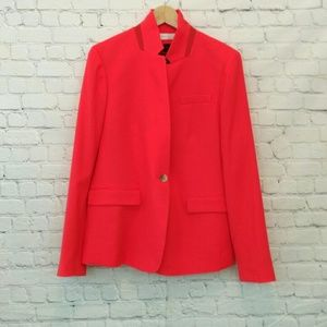 NWT J Crew Regent Blazer Wool Orange 16